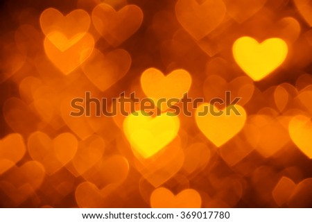 heart background photo golden color  - stock photo