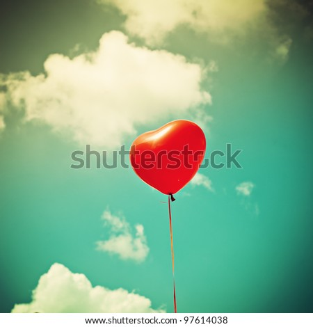 Heart Balloon - stock photo