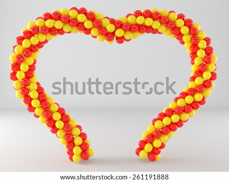 heart balloon frame and arch