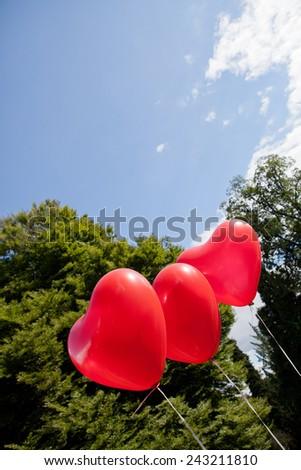 Heart Balloons - stock photo