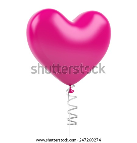 Heart balloons on a white background - stock photo