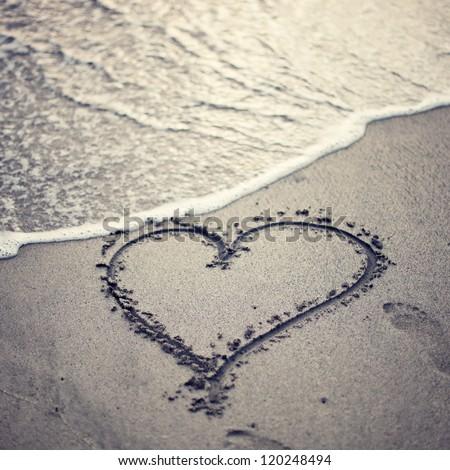 Heart Beach - stock photo