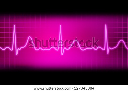 heart beat picture on a colour background