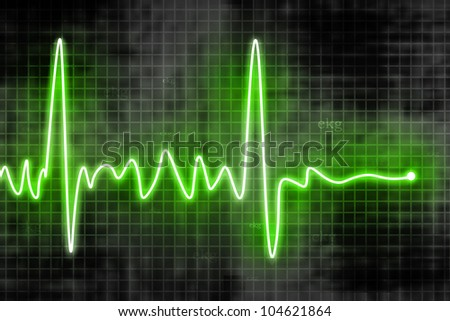 heart beats - stock photo