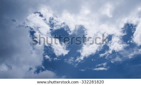 heart blue sky - stock photo