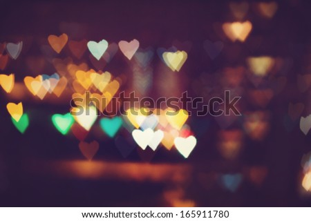Heart bokeh background. Valentine's day background - stock photo
