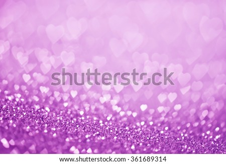 heart bokeh, colored bokeh, christmas and valentinas day background - stock photo