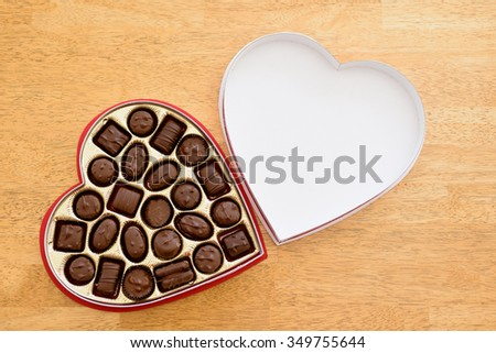Heart box of chocolates, Valentine's Day backgrounds.