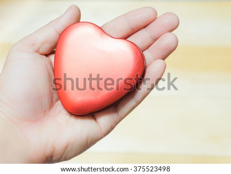 Heart box on hand