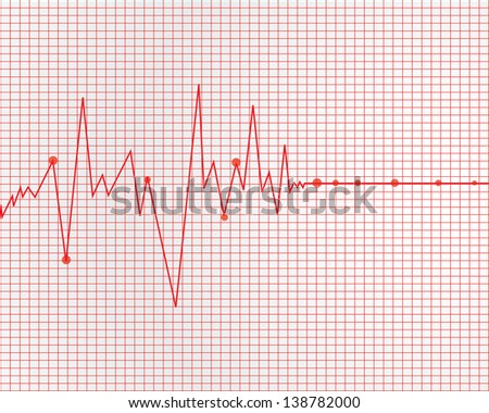 Heart cardiogram - stock photo