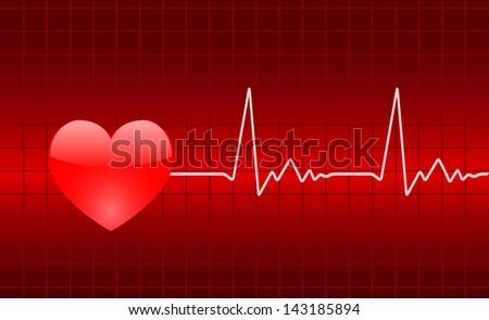 heart chart - stock photo