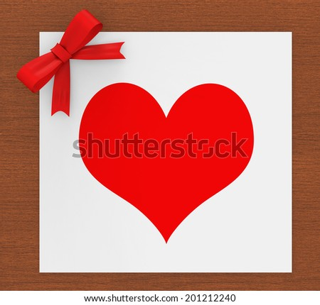 Heart Copyspace Indicating Valentine's Day And Lovers - stock photo