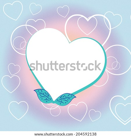 Heart Copyspace Showing Valentines Day And Blank - stock photo
