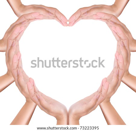 heart create from hands