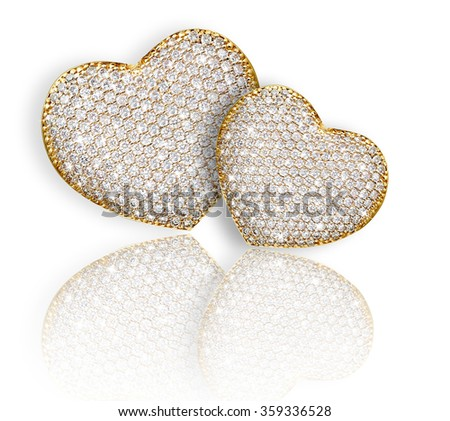 Heart diamond composition. Valentine's day background