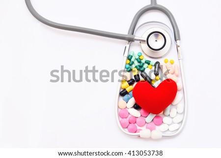 Heart disease treatment, medical concept - stock photo