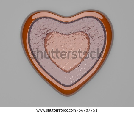 Heart filled with water - stock photo