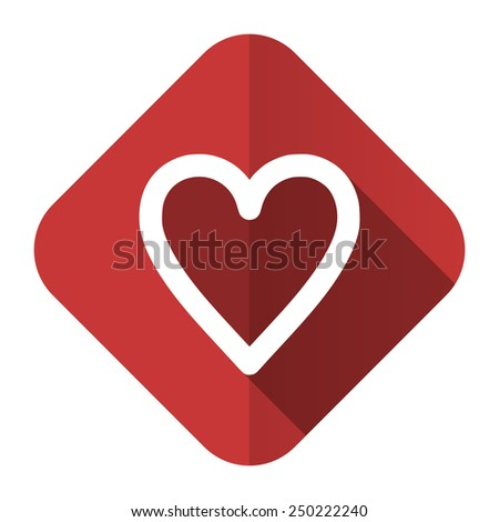 heart flat icon love sign  - stock photo