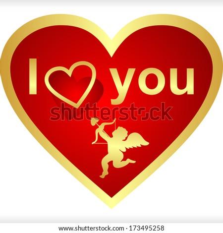 Heart for Valentine's Day. Raster version. - stock photo