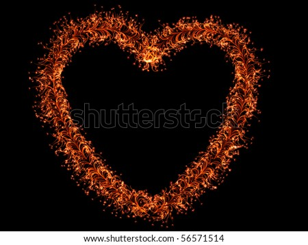 Heart formed from Plants - stock photo