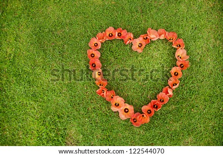 heart from flowers - stock photo