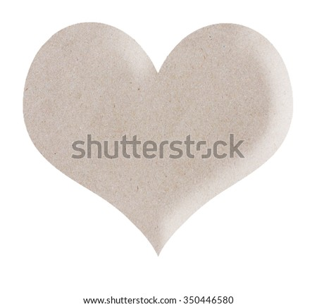 Heart from the paper. isolated on white background