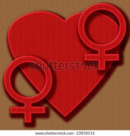 heart gay love - stock photo