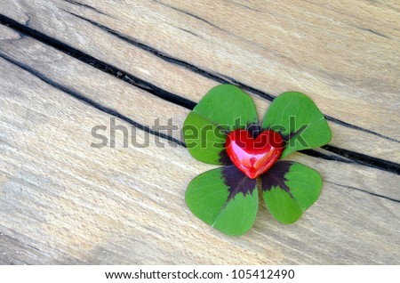 Heart - good luck charm - stock photo