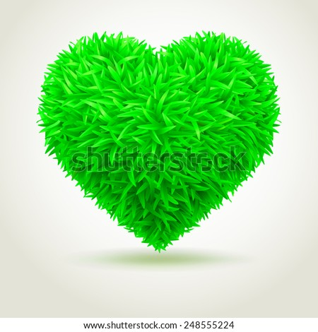 Heart grass.  - stock photo