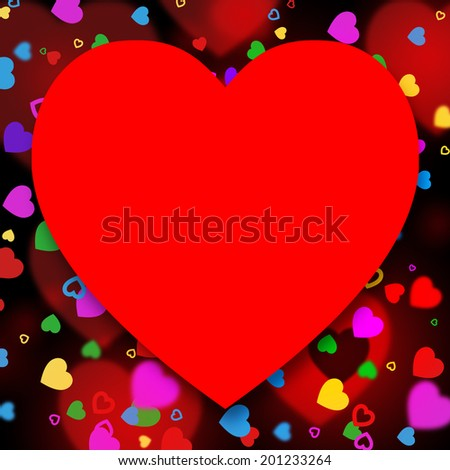 Heart Hands Representing Text Space And Hearts - stock photo