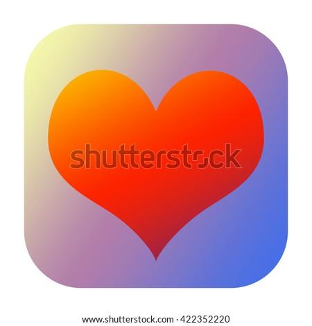 Heart icon - stock photo