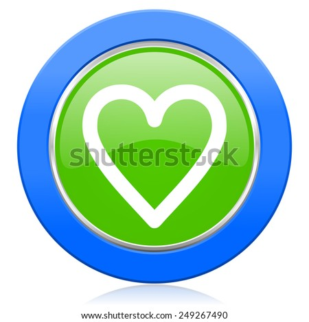 heart icon love sign  - stock photo