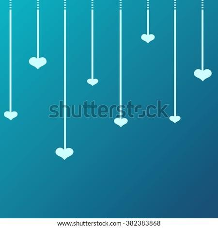 Heart Illustration icons symbols, Valentine day, love - stock photo