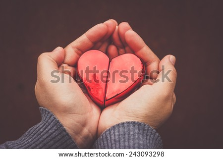 heart in hand still life