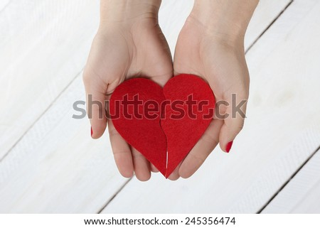 heart in hands. Valentine's Day