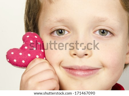 heart in his hands  - stock photo