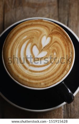 Heart Latte Froth Art - stock photo