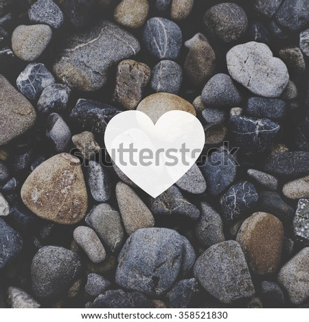 Heart Love Togetherness Romance Copy Space Concept - stock photo