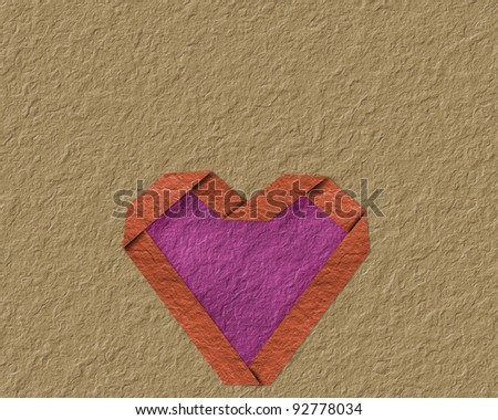 Heart made ??of paper with different - stock photo