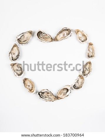 Heart made with oysters