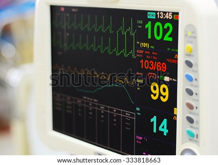 Heart monitor measuring vital signs