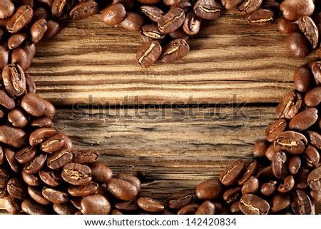 heart of coffee - stock photo