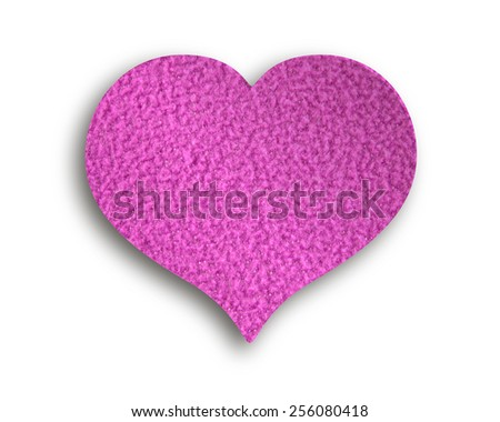 Heart of fleece - stock photo