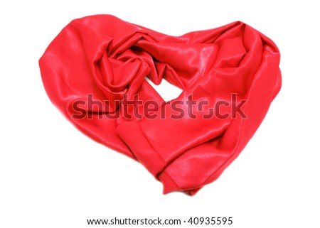 heart of red cloth - stock photo