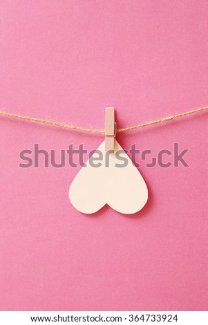heart on a pink background - stock photo