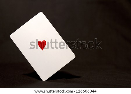 Heart on Card, with space for text