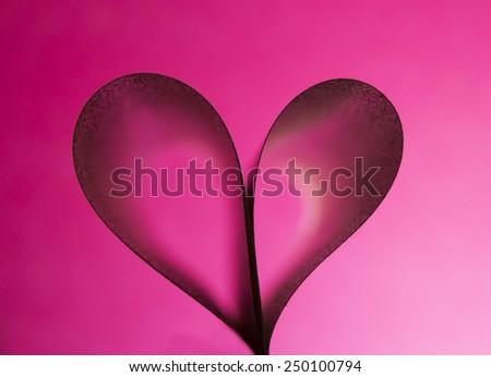 heart on gradient background - stock photo