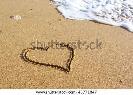 Heart on the beach. Conceptual design.