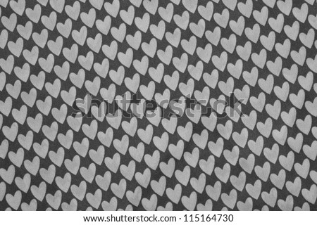 heart patterned fabric. - stock photo