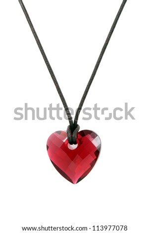 heart pendant isolated on the white background - stock photo